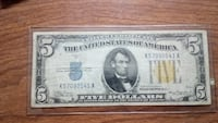 $5 north African silver certificate