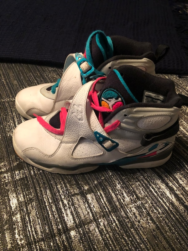 """info for 653c8 dddc8 Jordan 8 Retro South Beach Size 7, Nike Air Force 1 low """"Just do it"""" size  7, Nike Vapor Speed 3 Football cleats size 7, Jordan 1 Mid Bred Multi-Color  ..."""