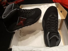 "New Jordan Retro 10 ""stealth"" sz 10"