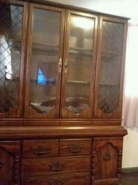 China cabinet. Top part comes off bottom part for  Abilene
