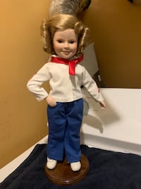 "Rare Shirley temple porcelain doll 14"" tall Jessup, 20794"