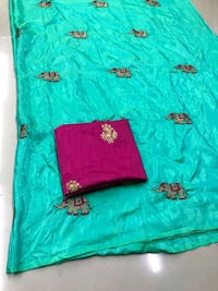 green and red floral textile Tenali, 522201