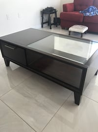 rectangular black wooden coffee table Hallandale Beach, 33009