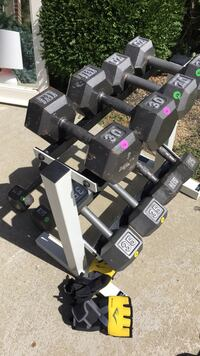 Dumbell Weights with Rack Milford, 45150