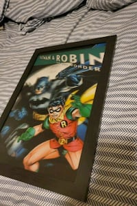 Batman and robin holograpic 3D picture with frame