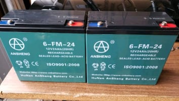 Two 12V 6-FM-24AH e-bike/scooter batteries