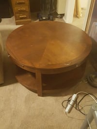 round brown wooden coffee table Costa Mesa, 92627