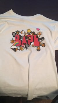White and red crew bape tee Saanich, V8Z 5N5