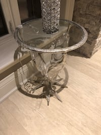 Glass decorative side table