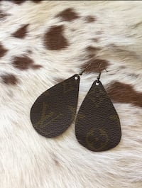 Authentic Louis Vuitton Up cycle  Teardrop Earrings!