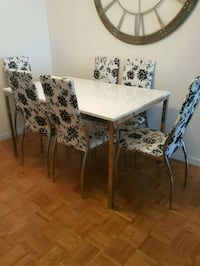 While IKEA table with six chairs   Toronto, M2M 4B9