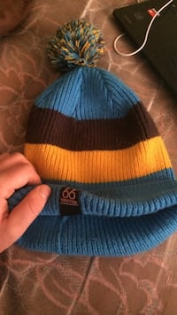 blue yellow and brown stripe pompom knit cap Peterborough, K9H