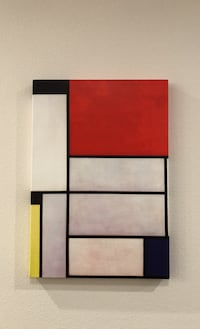 Tableau I, 1921 by Piet Mondrian, print on wrapped canvas