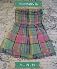 Mossimo Supply Co. Plaid Tube Top Madison Heights, 48071