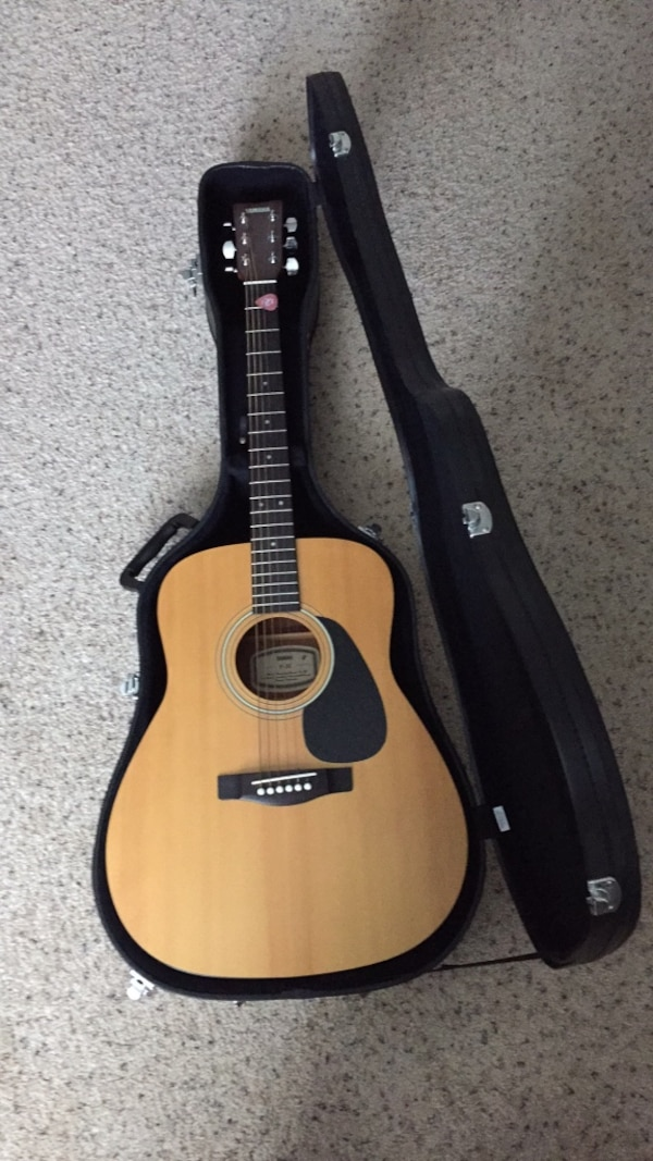 91d3ac58f2 Used Yamaha F-35 acoustic guitar. Case and pick included for sale in Pooler  - letgo