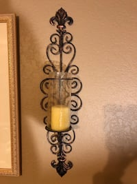 Metal sconce with candle Roswell, 30075