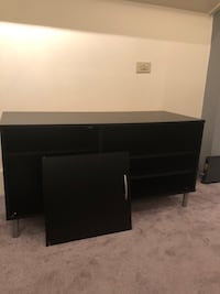 "Black wooden tv stand 46"" W- 18.5""D- 24"" H Boston, 02115"