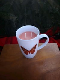 Handpoured Soy Candle Tangerine Butterfly  554 km