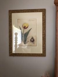 white and red flower painting with brown wooden frame Delray Beach, 33446