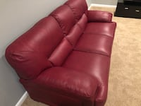 Original Italian leather sofa set. Less than a year old   Bowie, 20721