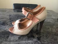 Massimo Baldi Brown Leather and Beige Heels Toronto, M1P 4P5