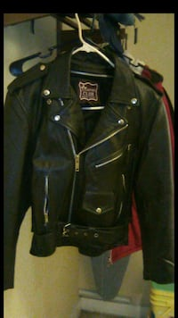 Genuine black leather jacket