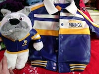 Leather Vikings Jacket with Matching Stuffie Cold Spring, 56320