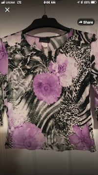 Beautiful Springy Flowery Super Soft Blouse