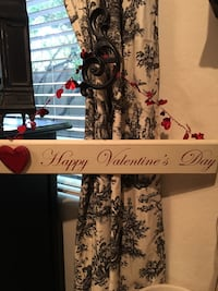 white and red wooden Happy Valentine's Day wall signage