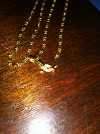 "18k necklace 28"" solid gold stamped  Everett, 98204"