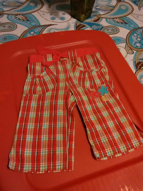 toddler's red and orange pants
