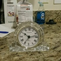 Crystal Clock just need a battery  Rockville