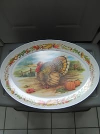 "Vintage Brookpark 1521 Thanksgiving 21"" Turkey Platter 21"" W/ Pumpkins . Pick Up in North Hagerstown MD.   $15.00 OBO Orchard Hills"