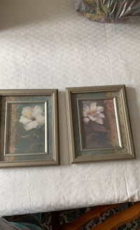 """Florals with silver frame 11 1/2 X9 1/2"""" Lancaster, 17603"""