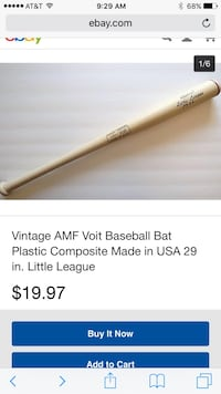 Vintage amf voit baseball bat plastic composite made in usa 29 North Las Vegas, 89130