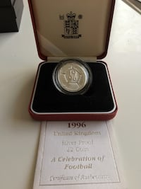 1996 UK Royal Mint Sterling Silver Proof £2/Two Pound Coin  Calgary, T2R 0S8