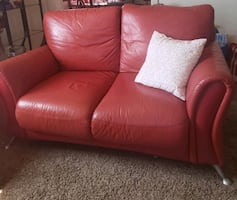 Two red couches