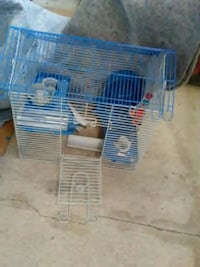 blue and white metal hamster cage-like new Markham, L6E 1H8