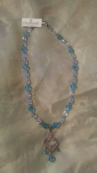 blue and silver beaded necklace Westlake, 70669