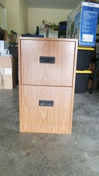 brown wooden 2-drawer filing cabinet Wimauma, 33598