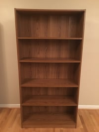 Tall Wood and Laminated Bookcase