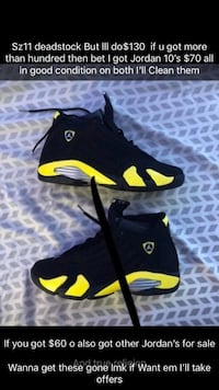 black-and-yellow Nike basketball shoes Blue Springs, 64015