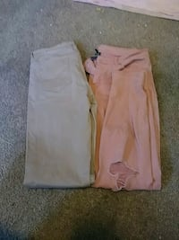 Tan and pink pants