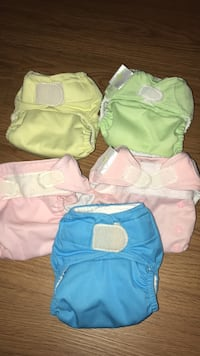 5 BUM GENIUS CLOTH DIAPERS