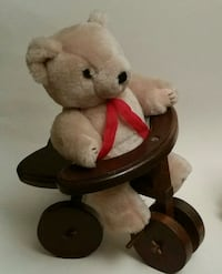 Wooden Tricycle with Bear