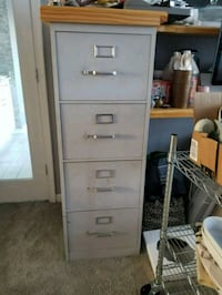 white metal 4-drawer filing cabinet Woodbridge, 22191