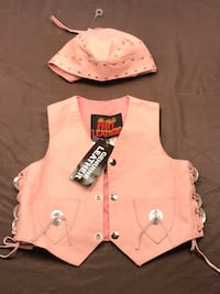NWT leather biker vest and skullcap Mount Airy, 21771