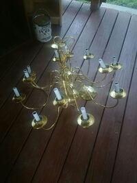 brass uplight chandelier