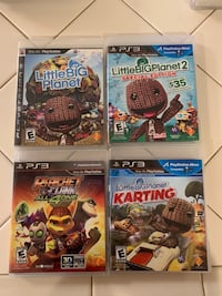 PS3 Games; Little Big Planet 1, 2, & Karting, Ratchet Clank All 4 One