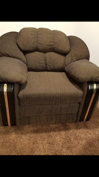 Brown fabric recliner sofa chair Winnipeg, R2K